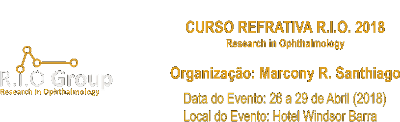CURSO REFRATIVA RIO 2018 – RESEARCH IN OPHTHALMOLOGY